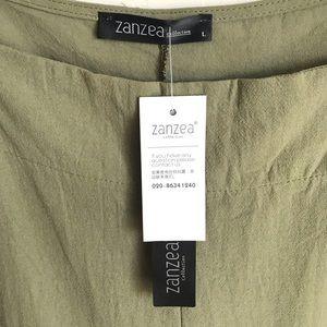 Zanzea Pants - Army Green Overall Size L Zanzea Collection NWTS
